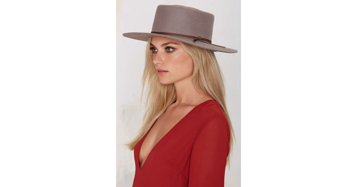 ... best price lyst brixton strider wool fedora hat in gray fce72 46b3e 50738386e148