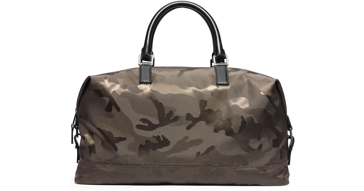 06cc6fbfb288 Michael Kors Camo Print Convertible Duffel Bag in Green for Men - Lyst