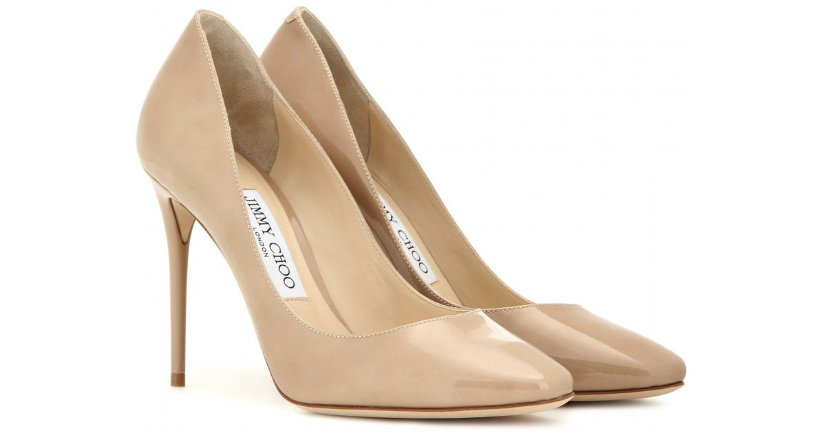 Jimmy choo Patent Leather Court Shoes Wholesale Quality JkKjbfY7
