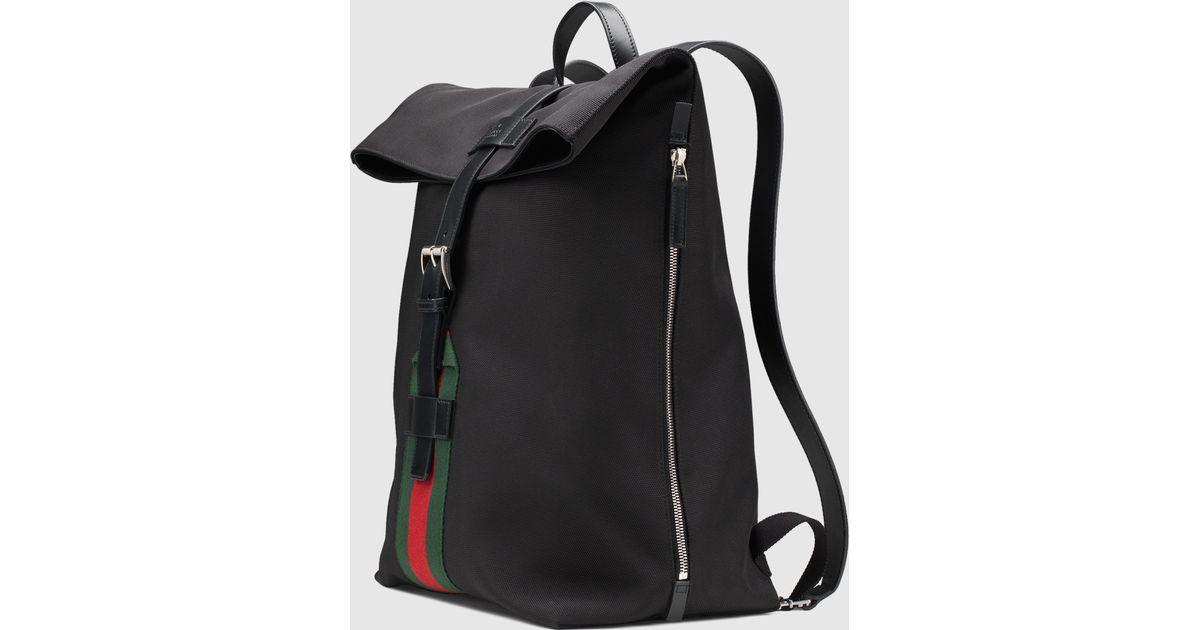 e12e66550dd0d3 Gucci Black Techno Canvas Backpack in Black for Men - Lyst