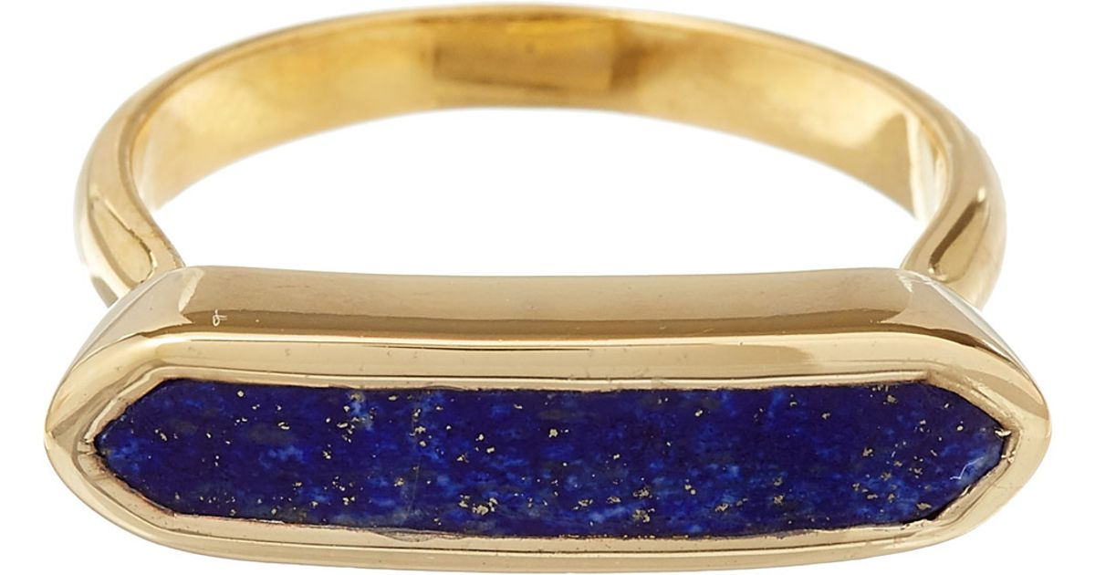 Baja Lapis Ring, Gold Vermeil on Silver Monica Vinader