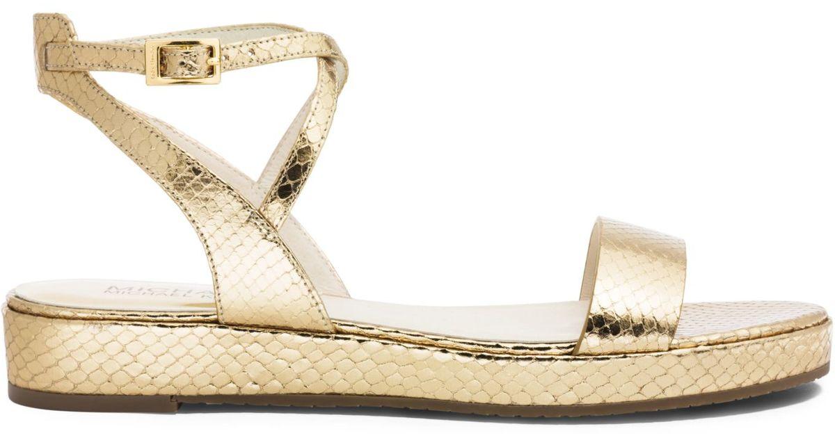 8a7e7b9d08e9b Michael Kors Kaylee Metallic Leather Sandal