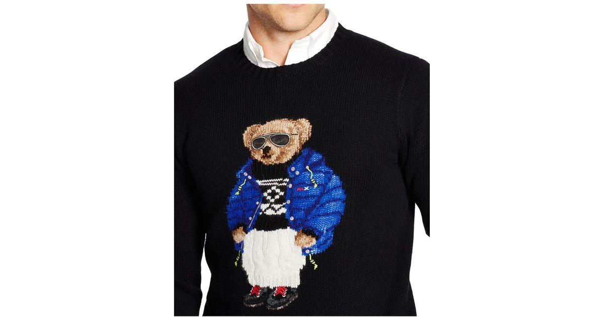Sweater For Polo Wool Ralph Lauren Bear Men Black Blend zVqSUGMp