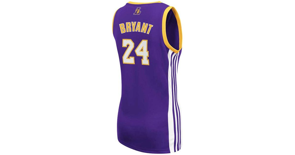 1a3f16463 adidas Women s Los Angeles Lakers Kobe Bryant Jersey in Purple - Lyst