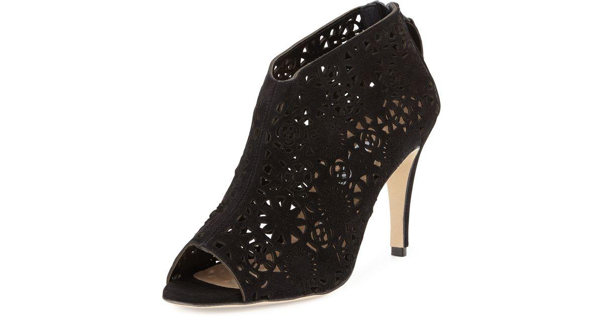 Manolo Blahnik Suede Laser Cut Ankle Boots visit new online discount really discount original 5eDcjTsFkN