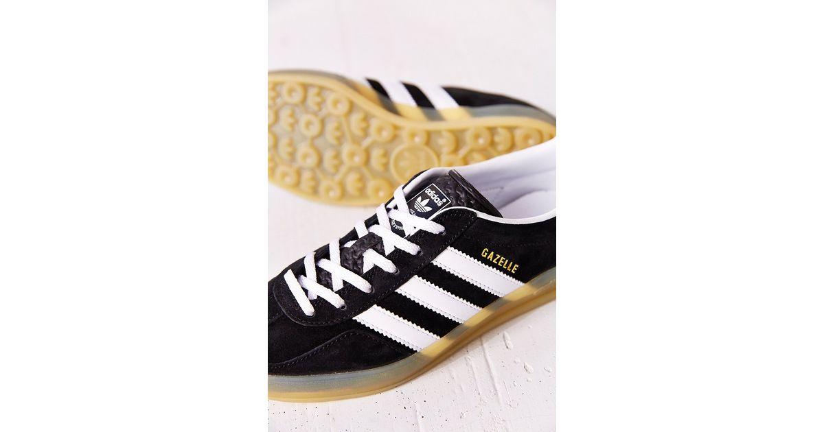 Adidas Black Originals Gazelle Gum-Sole Indoor Sneaker