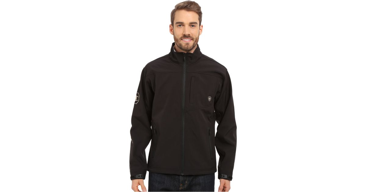 Ariat Team Softshell Jacket In Black For Men Lyst