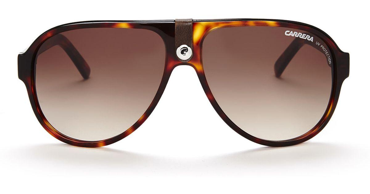Carrera Look 32s Sunglasses Tortoiseshell Aviator Brown 4Rj3A5Lq