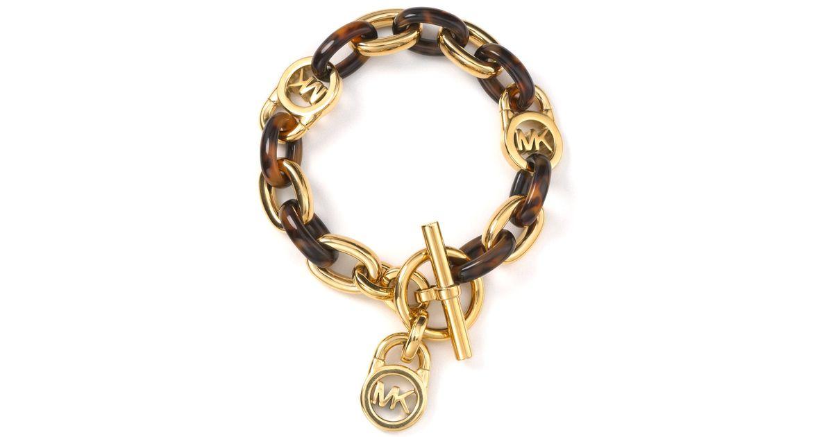 Mk Tortoise S Link Bracelet In Gold