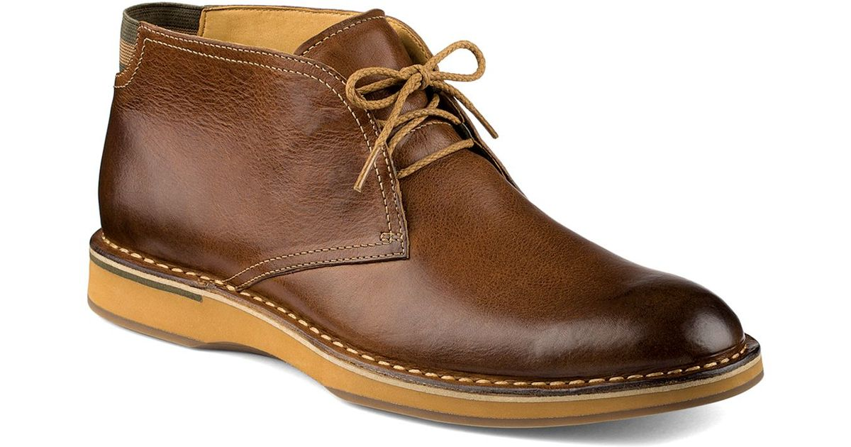 Sperry top-sider Gold Norfolk Chukka Boots in Brown for Men | Lyst