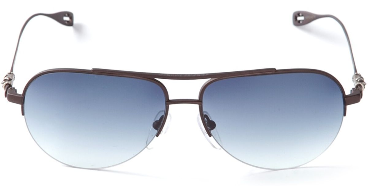 f8a97a87f2c9 Chrome Hearts 'Stains' Sunglasses in Black - Lyst