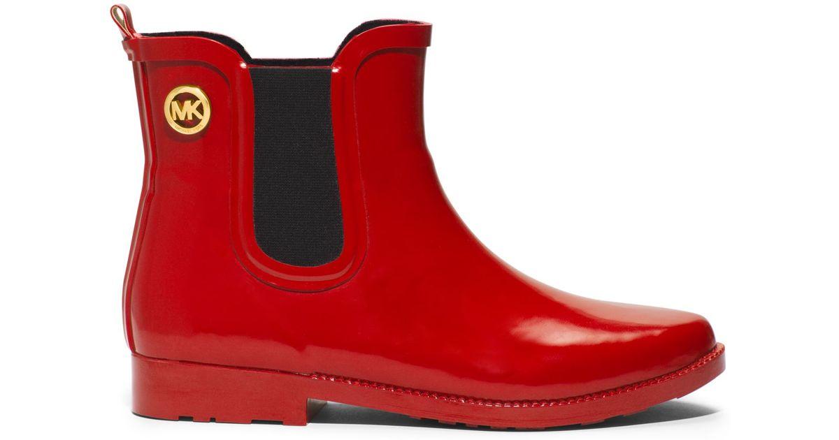 Michael Kors Short Rubber Rain Boot in