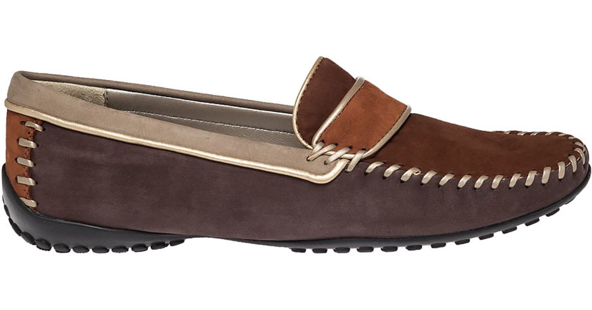 Robert zur Accent Suede Driving Loafers in Brown