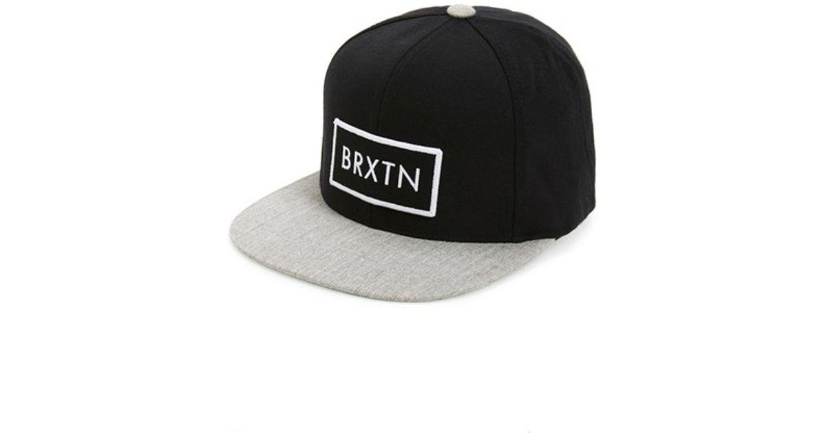 72fd816a82b Lyst - Brixton  rift  Snapback Cap in Black for Men