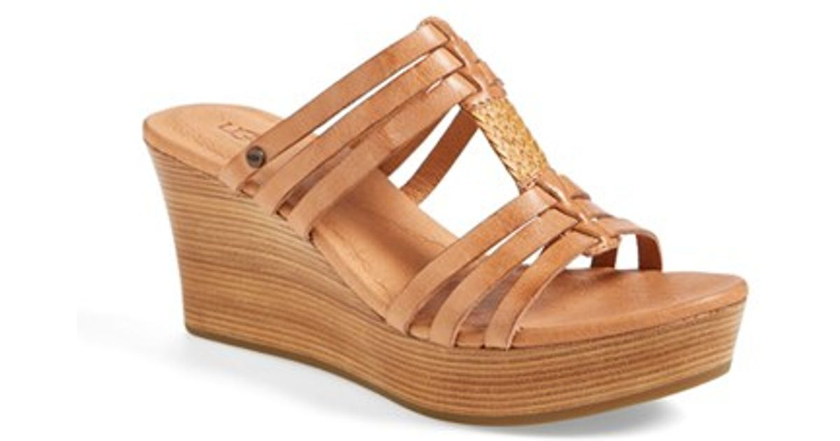 7f3f0d4ec51 Ugg Brown Mattie Wedge Sandal