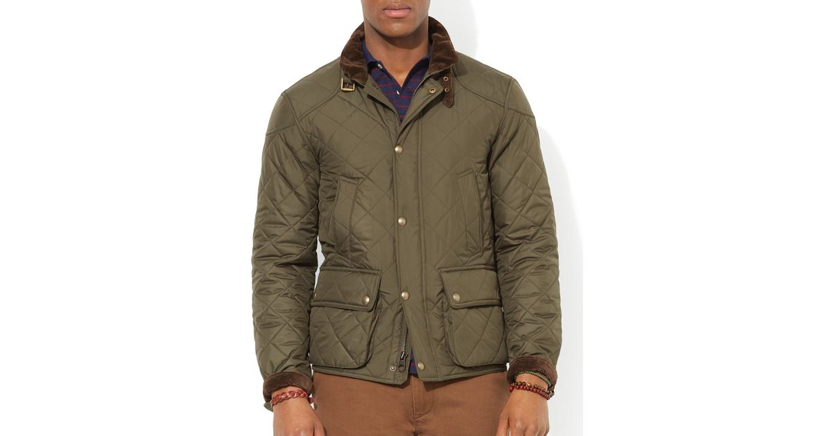 Cadwell Polo Bomber For Men Ralph Jacket Quilted Green Lauren n0k8OXwP