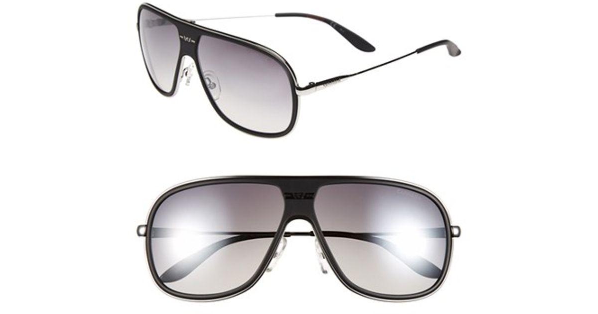 0bbb203b81b3 Lyst - Carrera 62mm Aviator Sunglasses in Black for Men