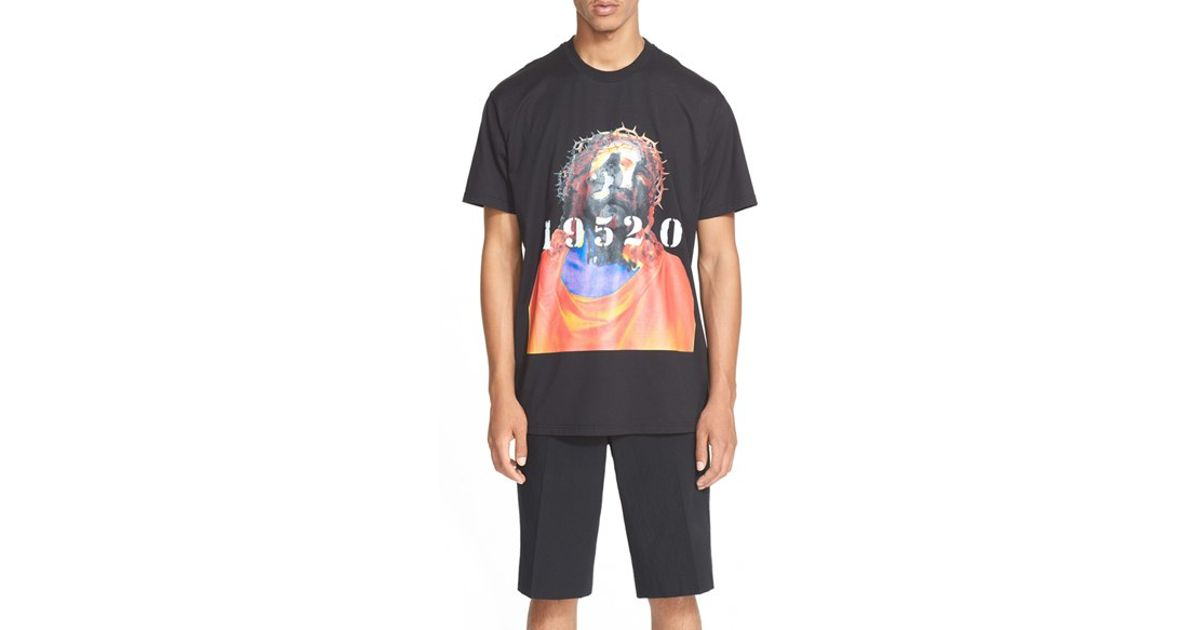 givenchy 39 tribute 39 graphic t shirt in black for men lyst. Black Bedroom Furniture Sets. Home Design Ideas