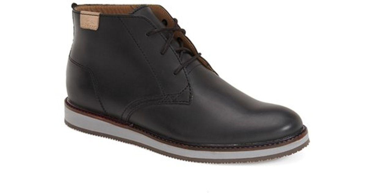 8b213cf5a42 Lacoste Black 'millard' Chukka Boot for men