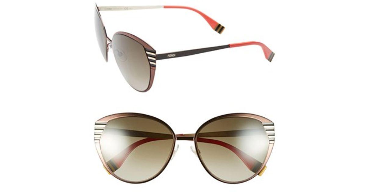 1c0bcf5e20a Lyst - Fendi 57mm Oversized Sunglasses - Dark Brown in Brown