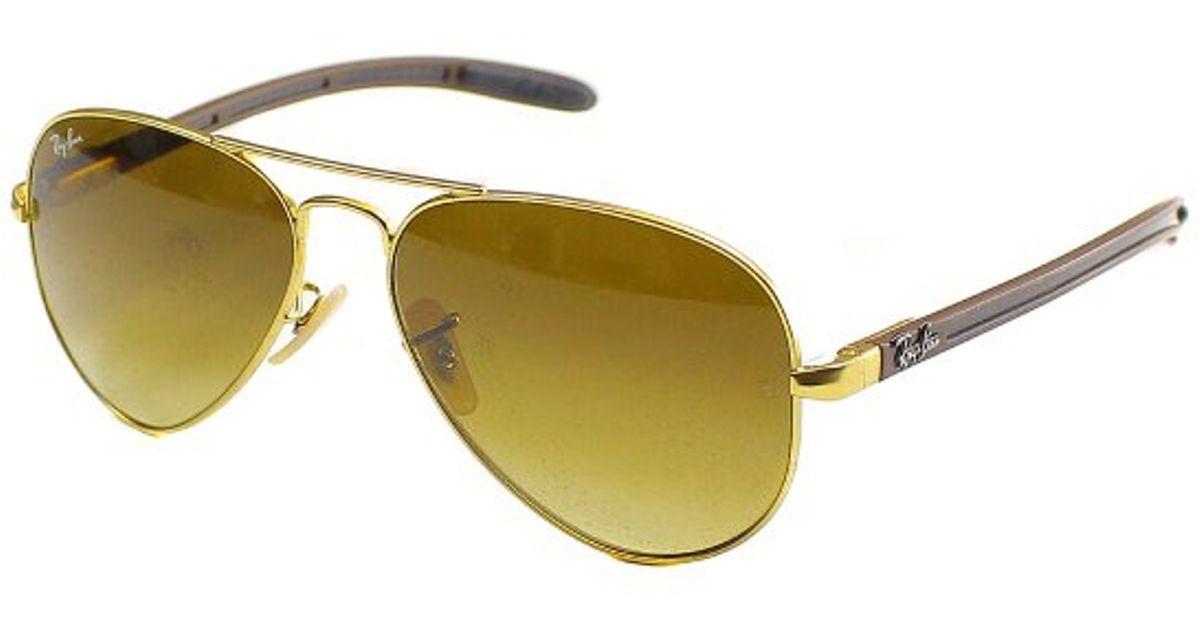 dacfa38c7d Ray-Ban Ray Ban Rb8307 Aviator Carbon Fibre 112 85 Metal Sunglasses-58mm in  Metallic - Lyst