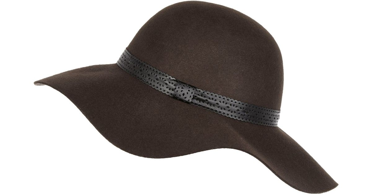 Lyst - River Island Dark Brown Floppy Hat in Black 072a4967b25