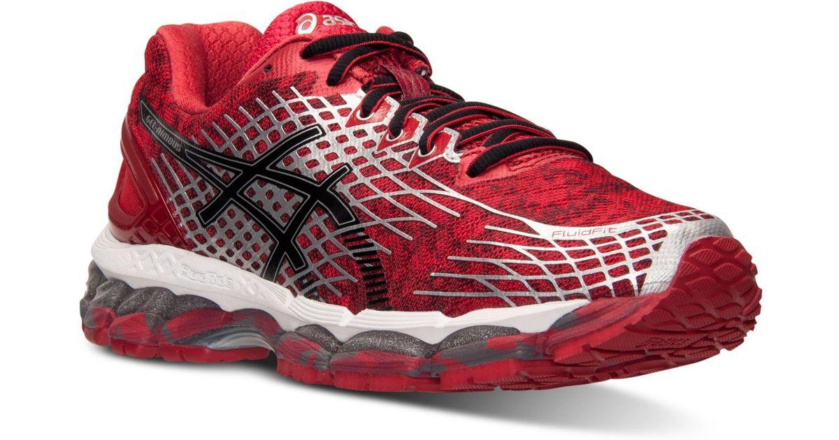 Asics Red Men'S Gel Nimbus 17 Print Running Sneakers From Finish Line for men