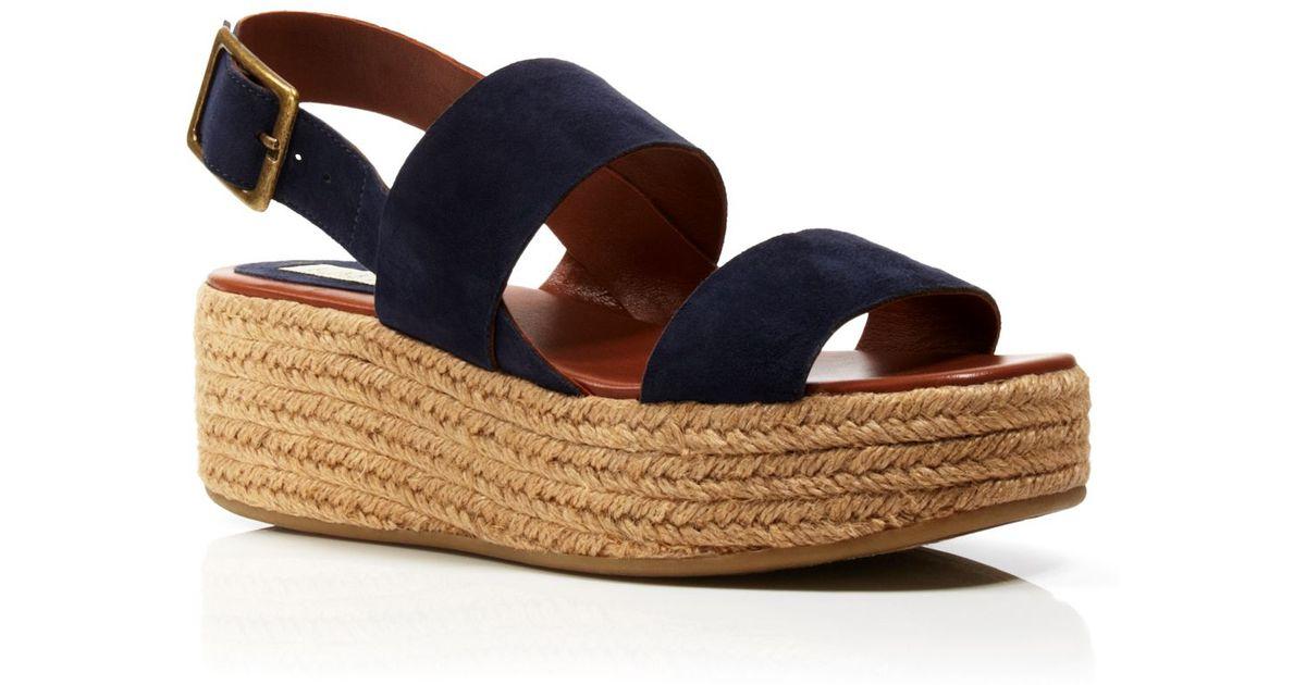 c5531a7e1d2d Lyst - Lauren by Ralph Lauren Platform Sandals - Eileen Espadrille in Blue