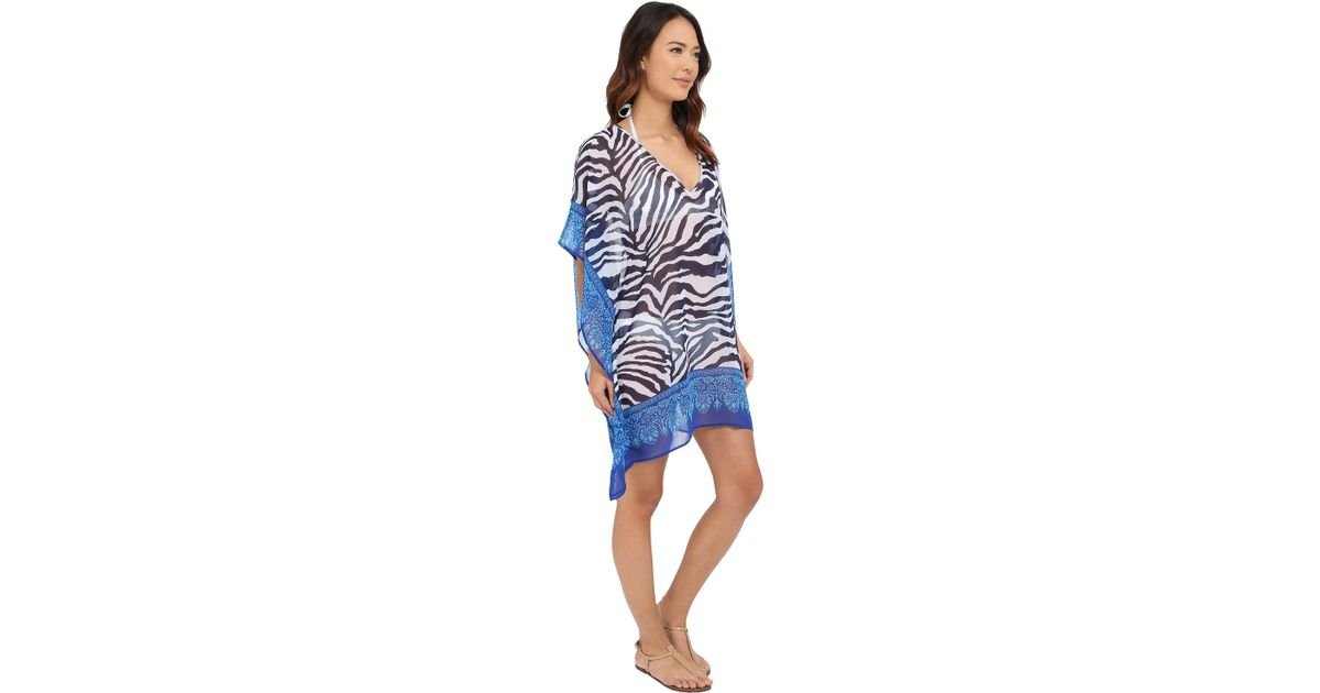 6fad8beb1a Lyst - Tommy Bahama Zebra Engineered Tunic Cover-up in Blue