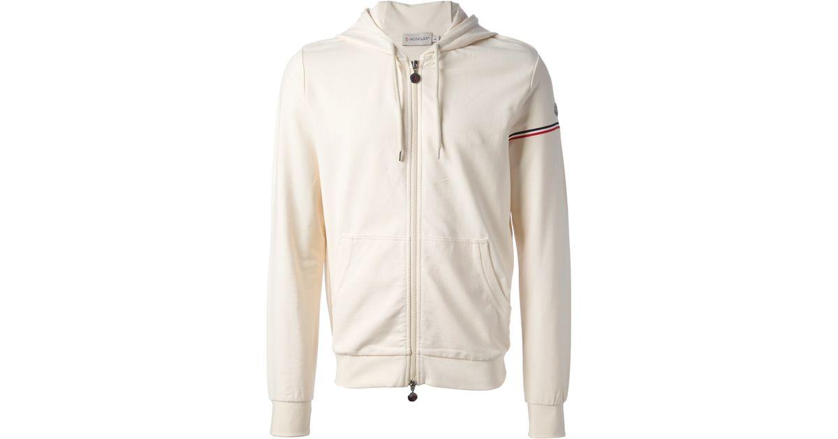 d9982a6bb Moncler White Zip Fastening Hoodie for men