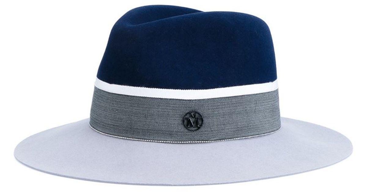 77e031e74f8 Lyst - Maison Michel Henrietta Hat in Blue for Men