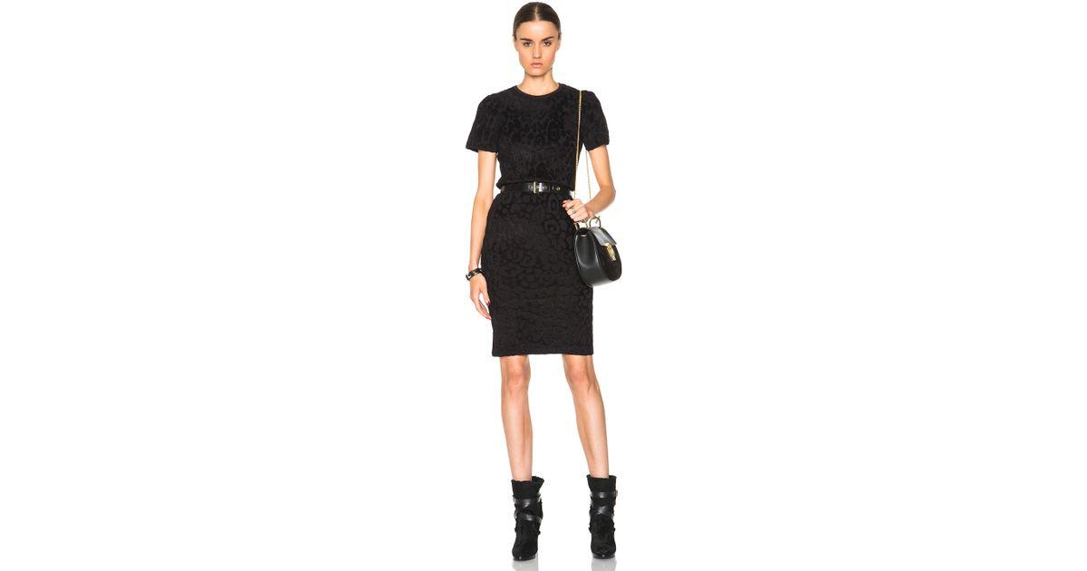 049ab45ecde Lyst - Burberry Animal Jacquard Bodycon Dress in Black