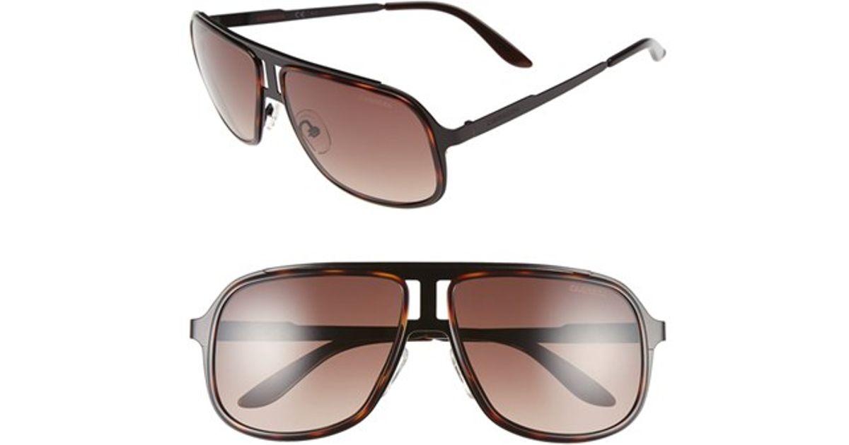 0fbe7a618f71 Lyst - Carrera 59mm Aviator Sunglasses in Black for Men