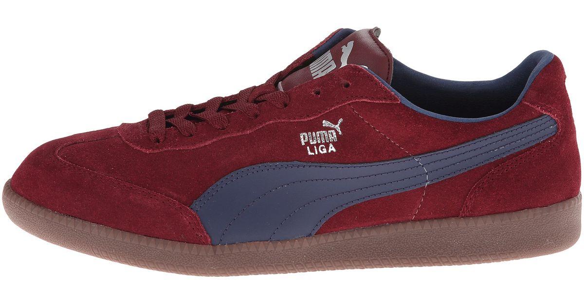 5e8d8f59b60e Lyst - PUMA Liga Suede Classic in Red