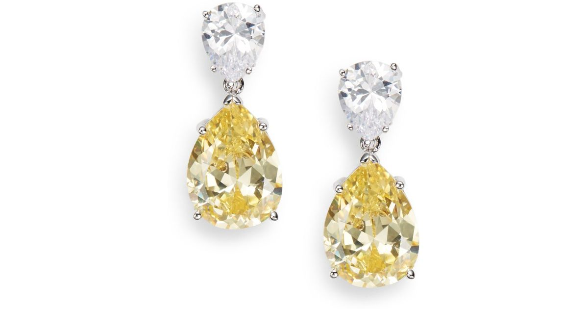 earrings product dazzling bridal luciella simona drop pear