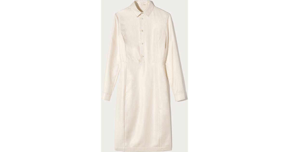 Lyst - Bally Silk Twill Shirt Dress in White
