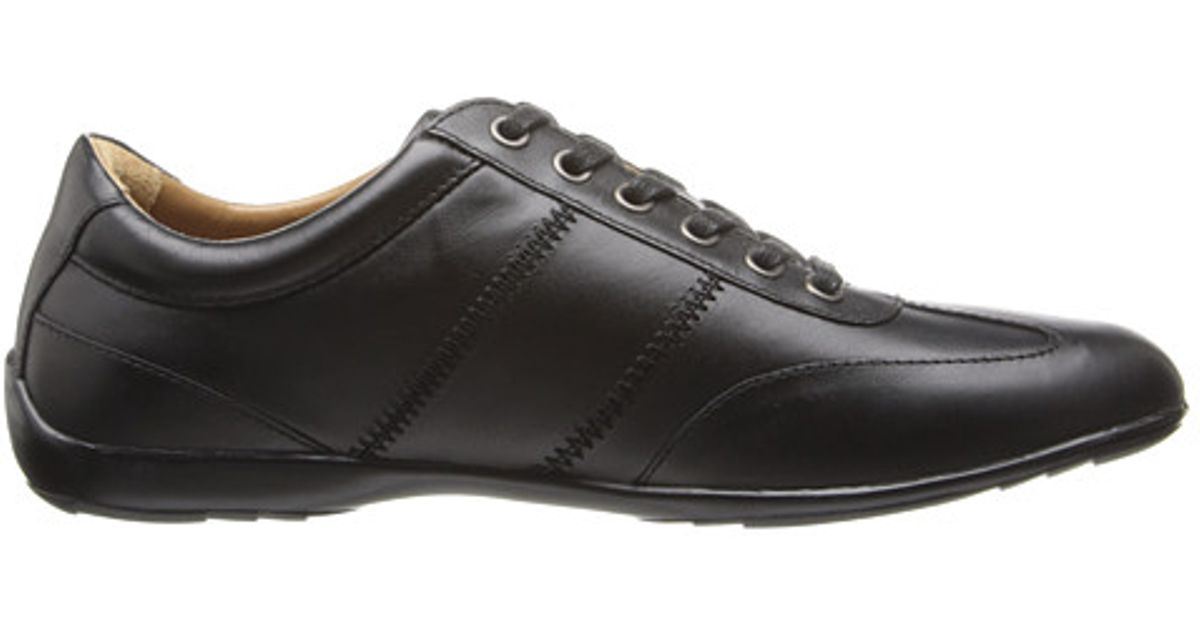 b5e1f563bb Armani Jeans Black Leather Lace-up Driver for men