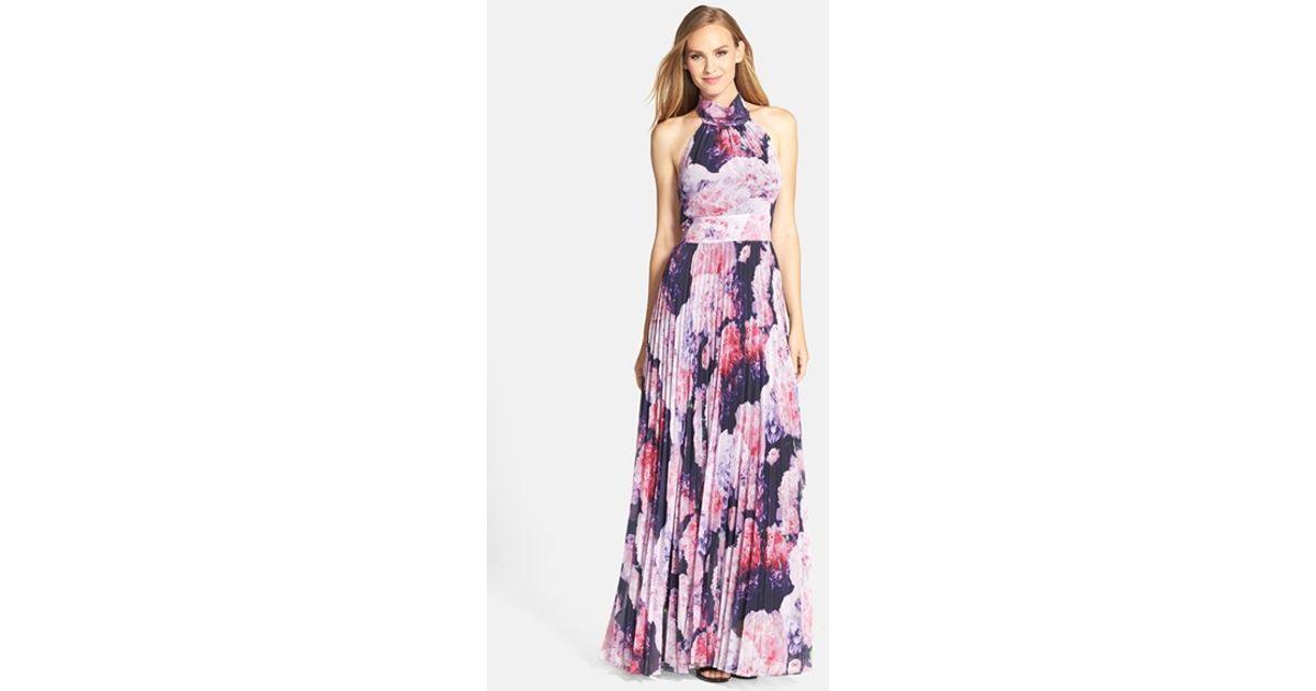 d1157358667 Eliza J Floral Chiffon Maxi Dress in Purple - Lyst