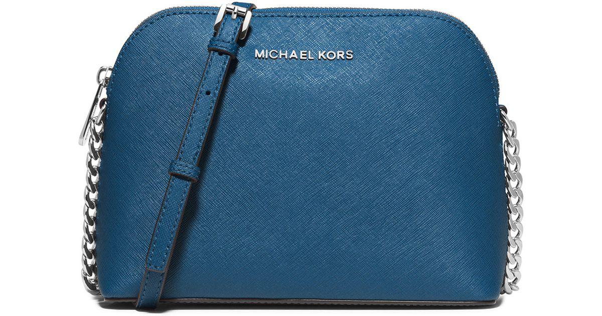f14e9d8f4b9755 MICHAEL Michael Kors Cindy Large Dome Saffiano Crossbody Bag in Blue - Lyst