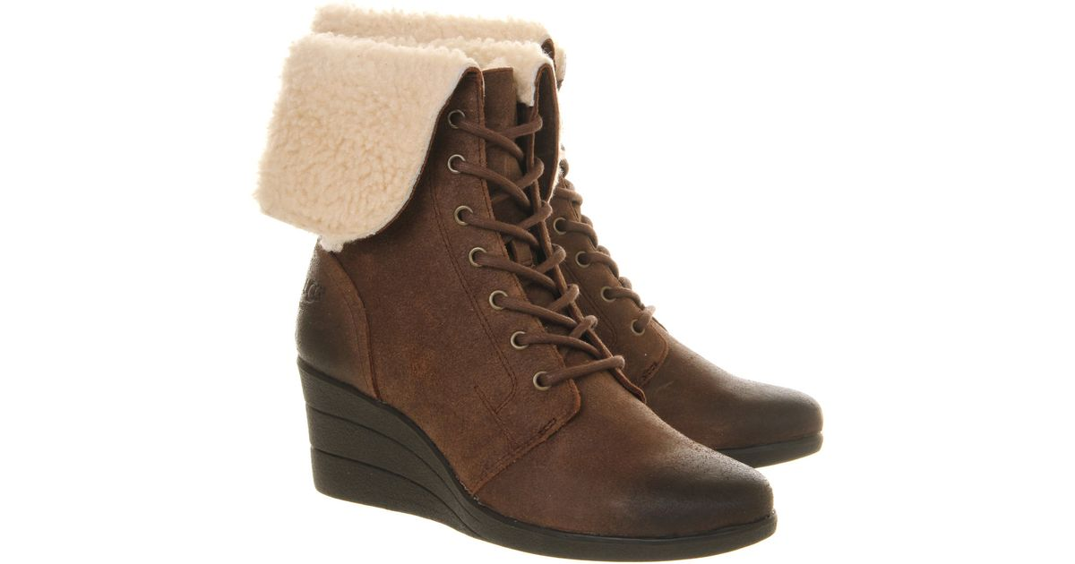 7763df7a847 Ugg Australia Zea Lace Up Wedge Boots - cheap watches mgc-gas.com