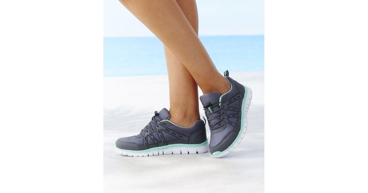 DAMART Cushion Walk Trainers in Blue - Lyst