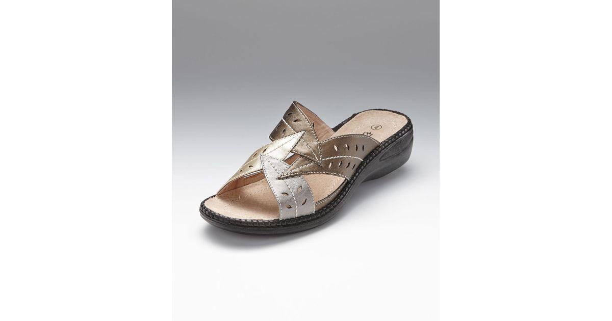 hot products biggest discount closer at DAMART Multicolor Coussin D'air Mule Sandals