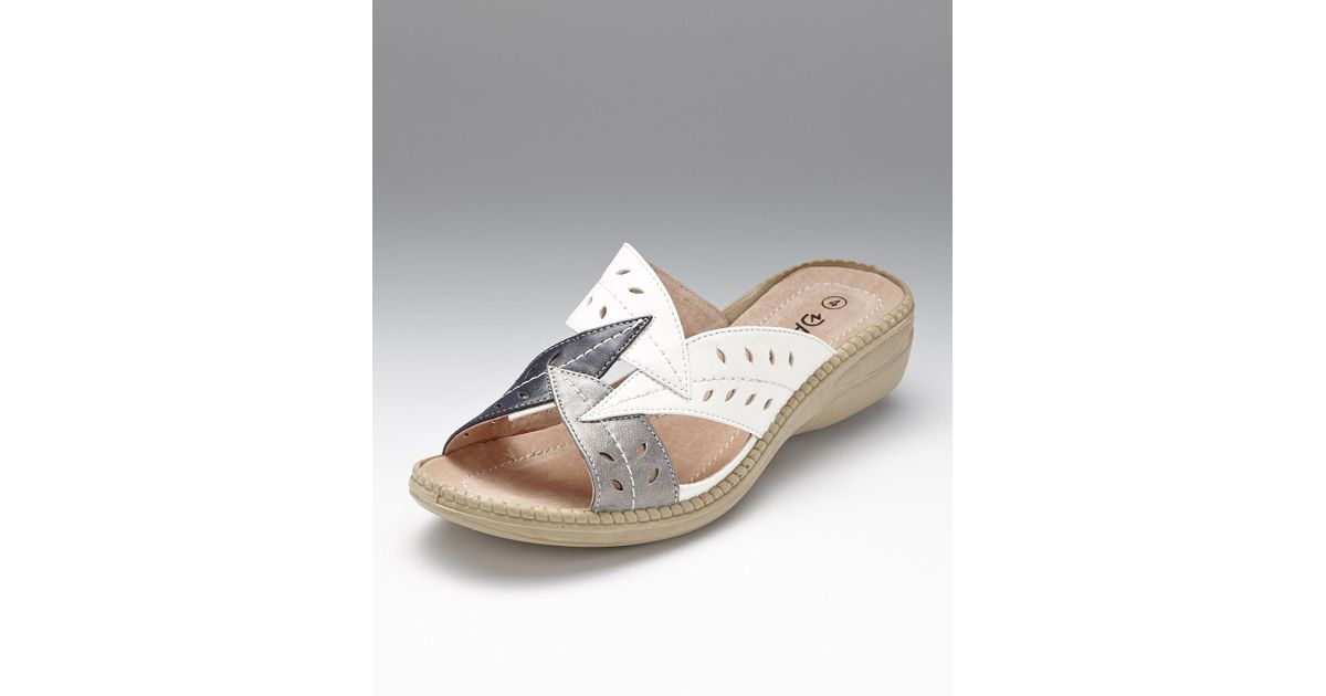 new styles half off really cheap DAMART White Coussin D'air Mule Sandals
