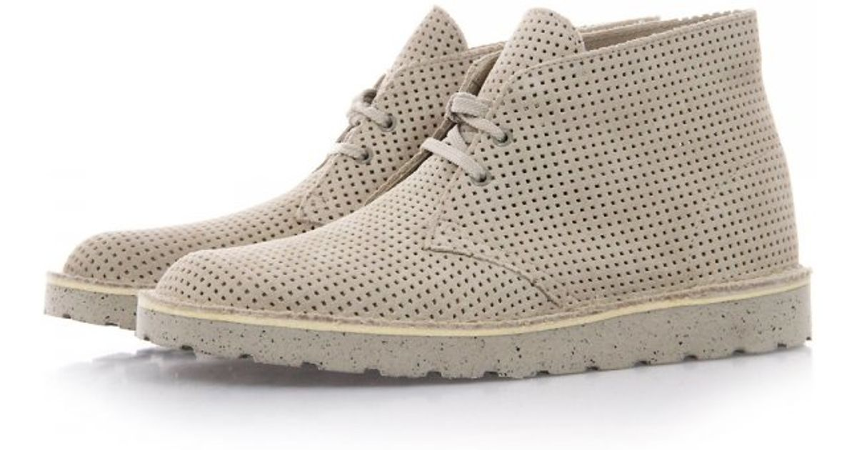 Clarks Desert Aerial Perforated Suede Desert Boots In