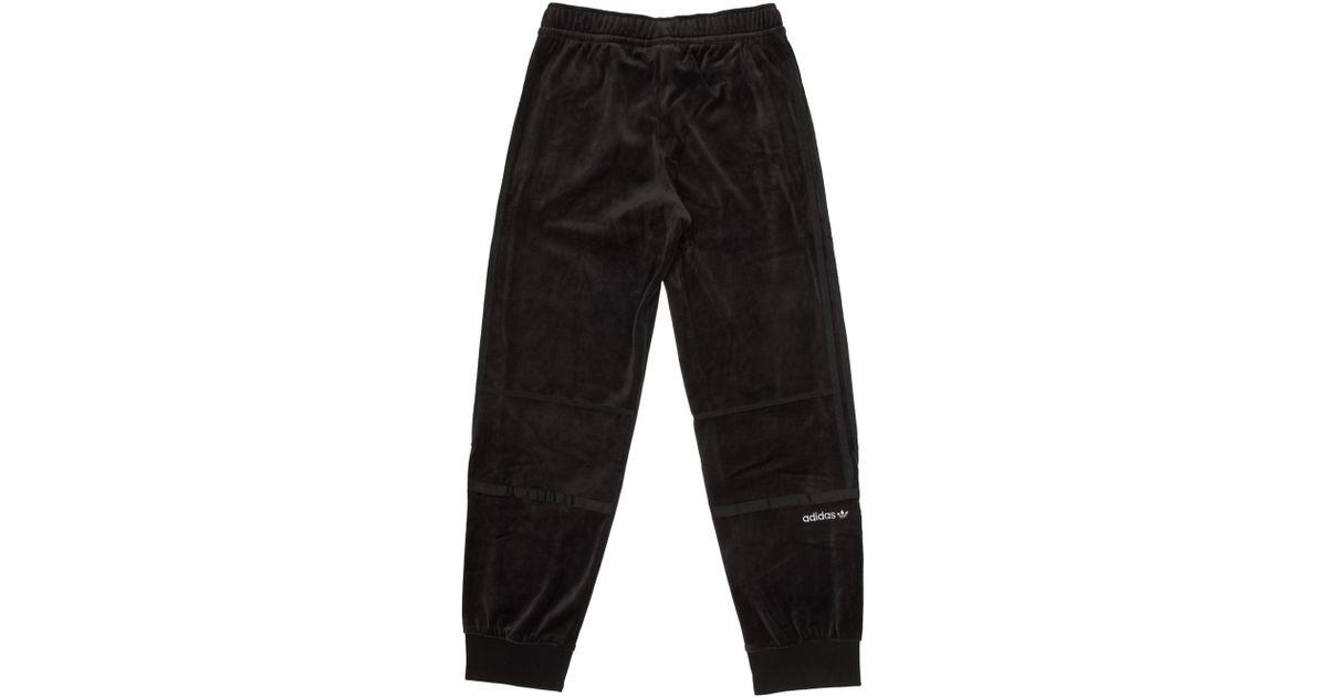 Adidas Originals Black Challenger Velour Track Pants for men
