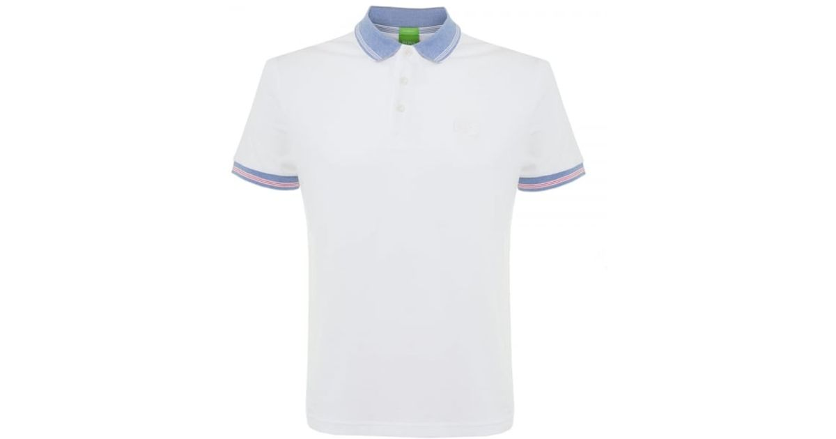 b9e0d29b Lyst - BOSS Green Hugo Boss C-Firenze 3 White Polo Shirt 50309185 in Green  for Men