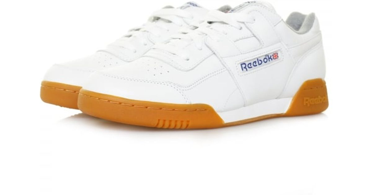 e906b29ef6f Lyst - Reebok Workout Plus R12 White Leather Shoe M45031 in White for Men