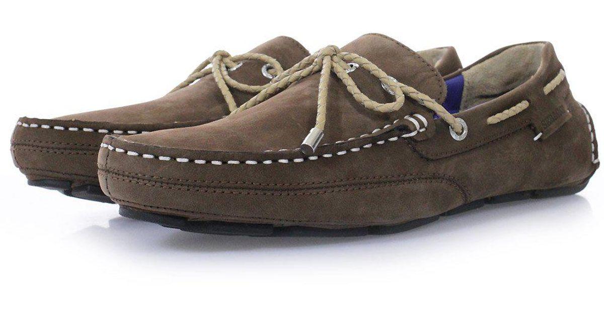 Shoes For Men Kedge B810112 Nubuck Sebago Brown Driving PiXkZu