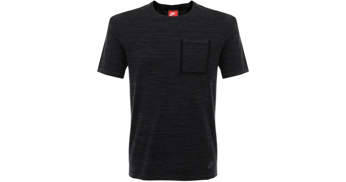 399281747 Lyst - Nike Tech Knit Black Grey Pocket T-shirt in Black for Men