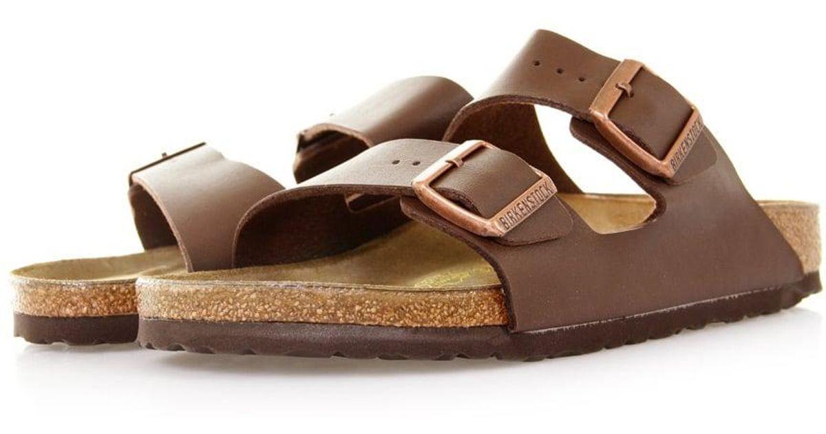 b97891bada2 Lyst - Birkenstock Arizona Dark Brown Sandals 0051701 in Brown